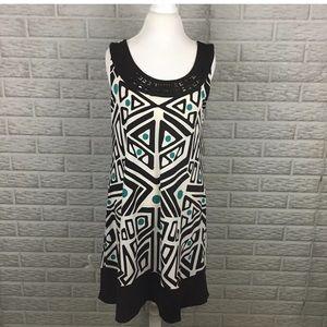 Apt 9 Geometric Print Embellished Shift Dress